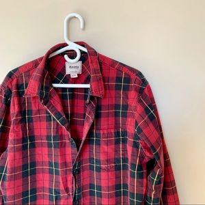 Roots red plaid shirt - size XL MENS